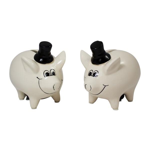 Sparschweine Hochzeitspaar 2-tlg. Set