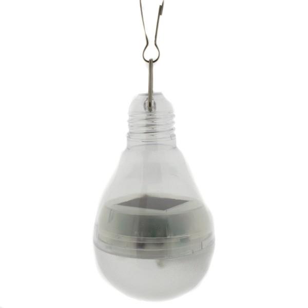 Solarlampe mit 4 Led´s im Look einer Glühbirne zum Hängen, Höhe 12/16 cm
