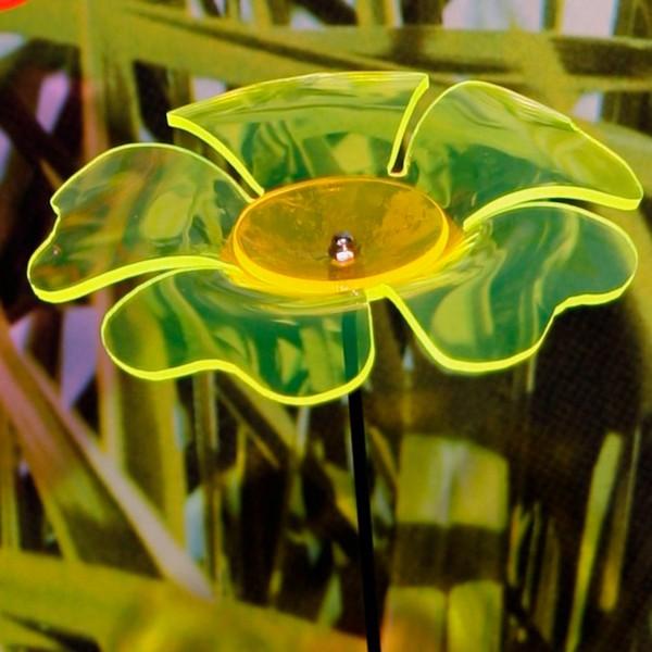 """Gartenstecker Lichtspiel """"Blume"""" grün H 112 cm"""