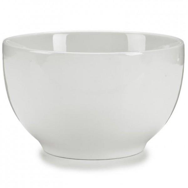 6 Servierschalen aus weißem Porzellan Ø 14 cm