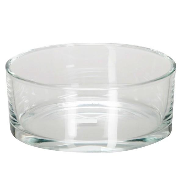 Glasschale in runder Form, Ø 19 cm