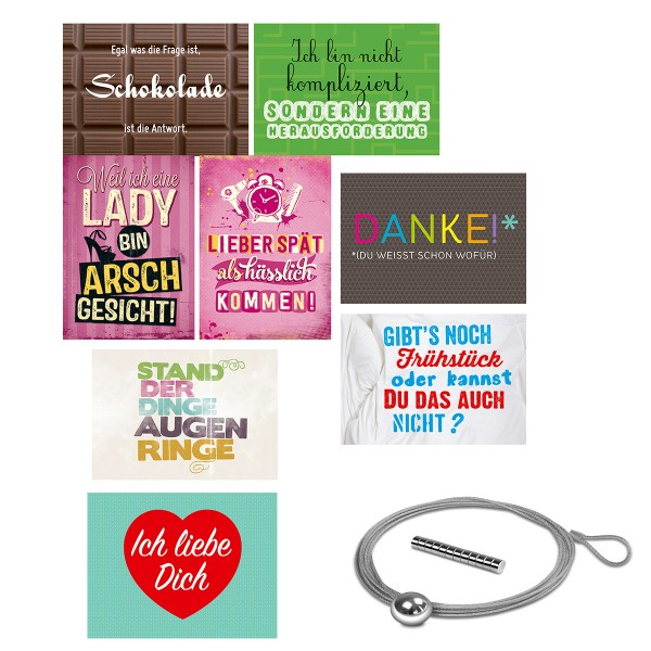 8-tlg. Set Postkarten Ladys Edition inkl. Fotoseil