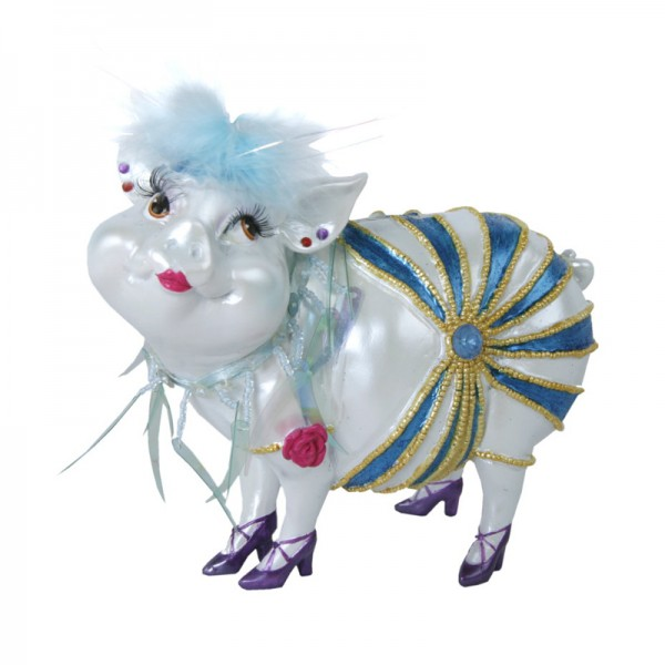 """Sparschwein """"Lady Piggy"""" hellblau, 17 cm"""