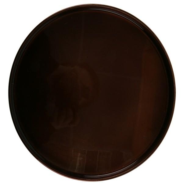 Tablett, braun glänzend, rund Ø 27 cm