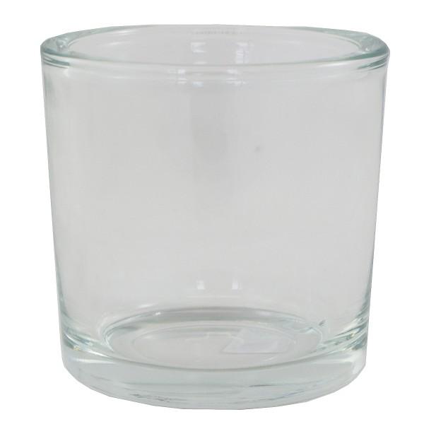 8 x Windlichter Zylinder in schwerer Glasqualität H 10 cm
