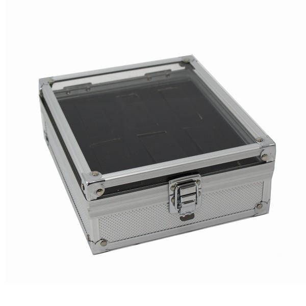 Koffer für Armbanduhren aus Aluminium für 6 Stück geeignet 19 cm