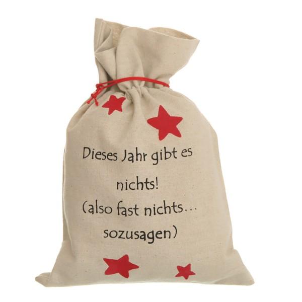 """4 x Geschenkbeutel """"Dieses Jahr gibt es nichts"""", 24 x 34,5 cm"""