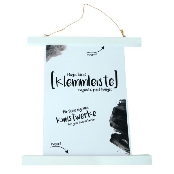 Klemmleiste für Poster zum Hängen mit Magnet, Länge 30 cm