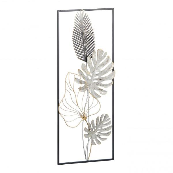 """Wanddeko """"Blätter"""" aus Eisen H 74 cm"""