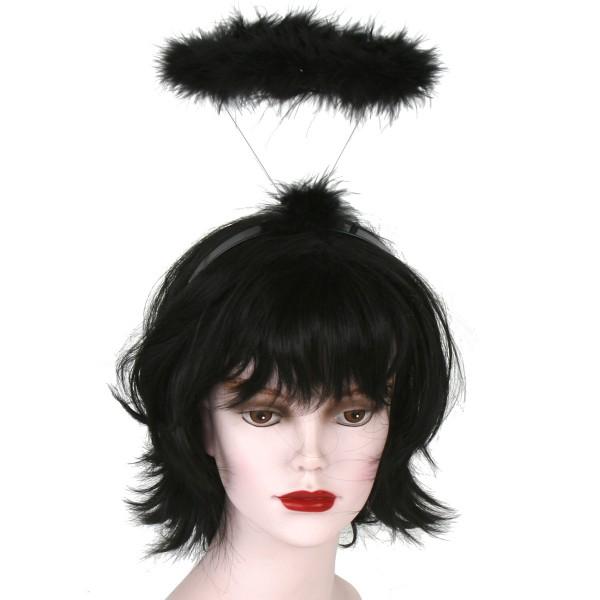 """Heiligenschein auf Haarreif """"schwarz"""""""