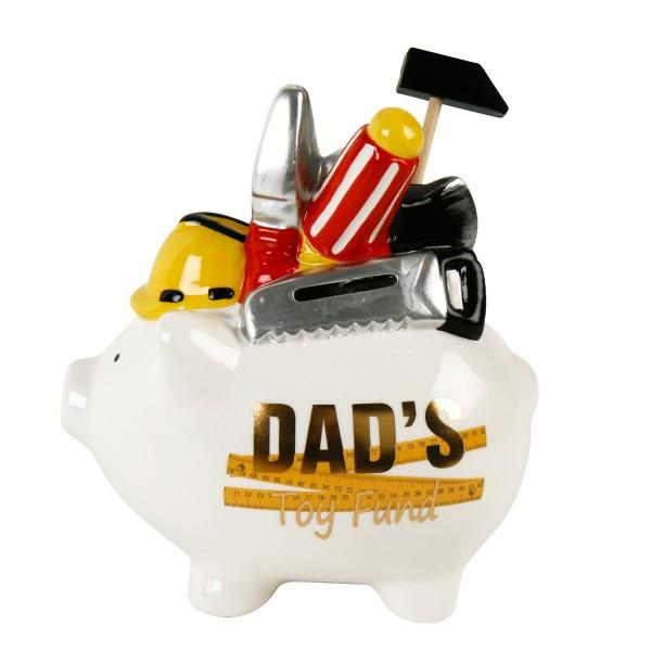 "Spardose ""Dad's Toy Fund"" Papa´s Spezialspardose 17 x 18 cm"