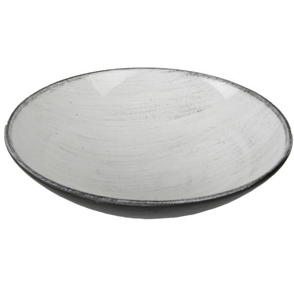 Dekoschale aus Kunststoff, weiß Ø 22 cm