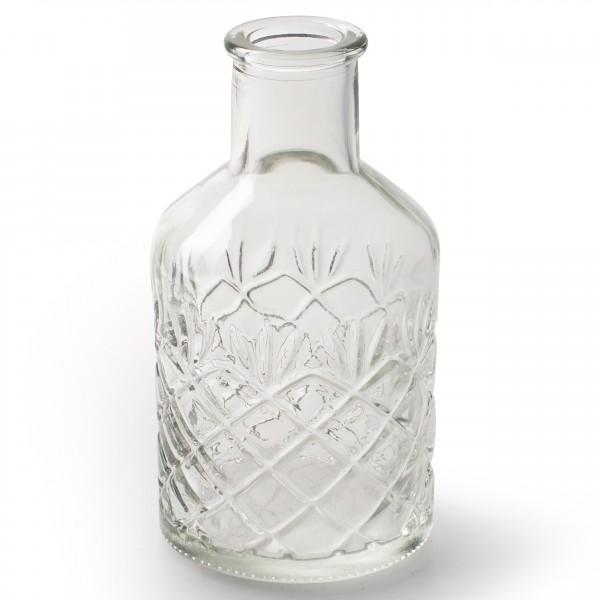 12 x Vasen aus Glas im Vintage-Look H 12 cm
