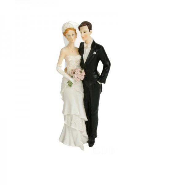 Hochzeitspaar stehend, Höhe 21 cm