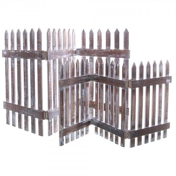 Holzzaun als Beeteinfassung 75,5 cm x 35 cm (L/H)