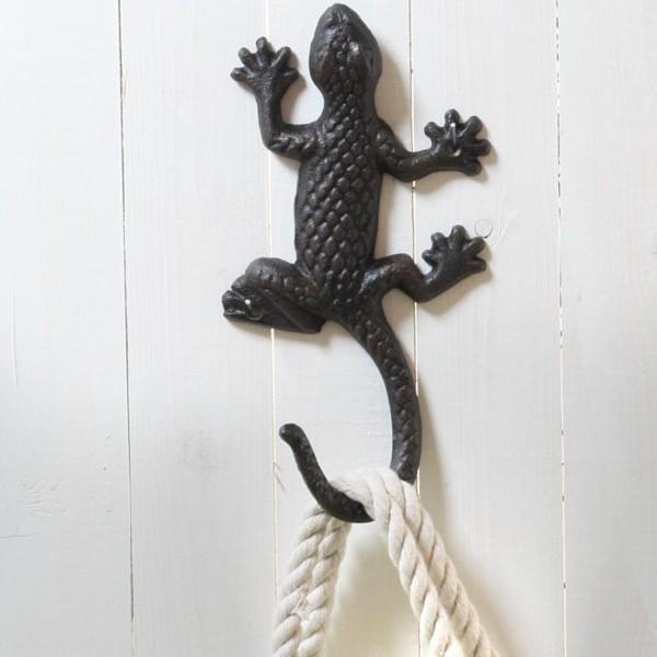"""Wandhaken """"Salamander"""" aus Gusseisen L 23 cm"""
