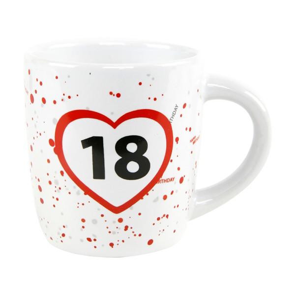 """Tassen mit Zahlen """"18"""" """"30"""" """"40"""" """"50"""" """"60"""" """"70"""" zum Geburtstag"""