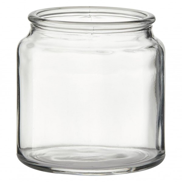 "6 x Windlichter ""Lara"", Glas H 10 cm inkl. 6 Meter Dekoband"