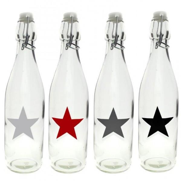 Bügelflasche mit Sterndesign zum Befüllen 500 ml