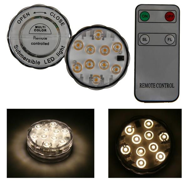 Led Unterwasserlicht mit 10 LEDs und Fernbedienung