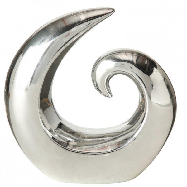 """Deko-Objekt """"Circum"""" aus Steingut H 20 cm"""