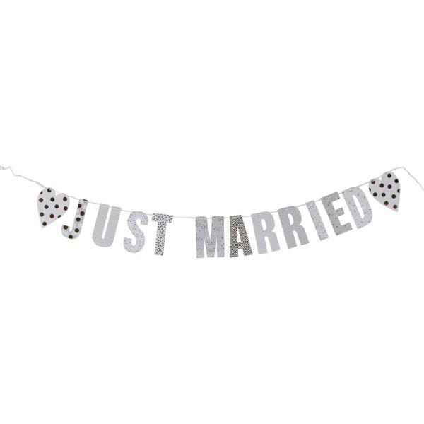 "3 x Girlande ""Just Married"" weiß ca. 3 m"