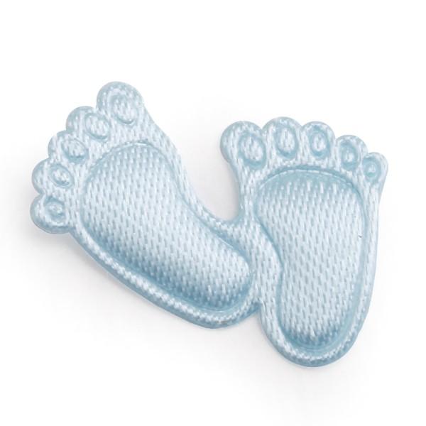 """600 Stück Baby-Füßchen """"Junge"""" aus Satin als Streudeko, Ø 2 cm"""