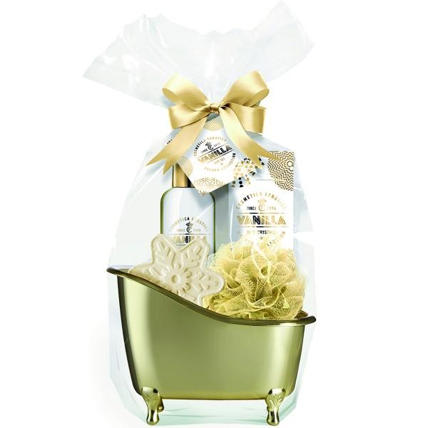 Bade-Geschenkset für Frauen in Badewanne
