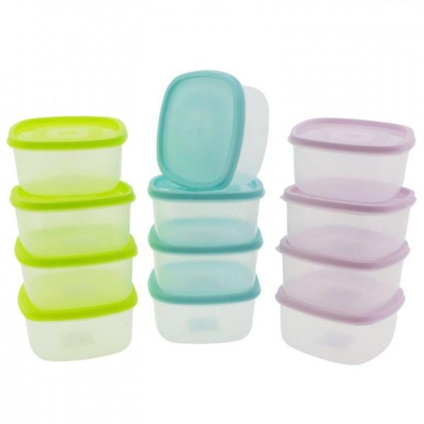 12 x Frischhaltedosen / Tiefkühldosen 0,5 ml zum Auftauen und Erhitzen