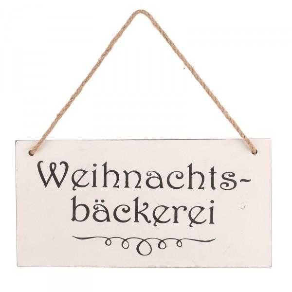 """Türschild """"Weihnachtsbäckerei"""" zum Hängen im Retro-Look 30 x 15 cm"""