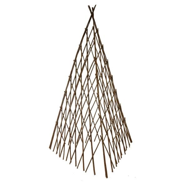 Rankhilfe in Pyramidenform aus Weide H 118 cm, flexibel