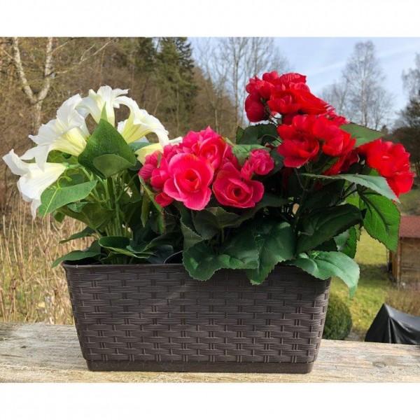Balkonkasten - Blumenkasten Ratolla aus Kunststoff in verschiedenen Modellen, Farben und Längen