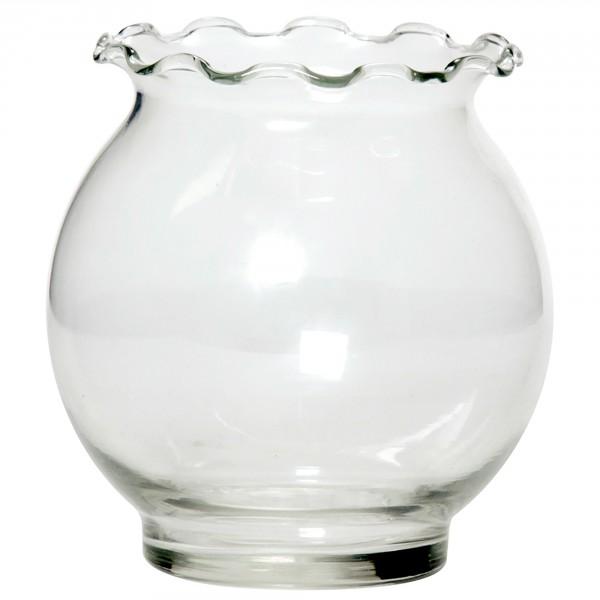 12 x Glasschalen mit Wellenstruktur H 12,5 cm