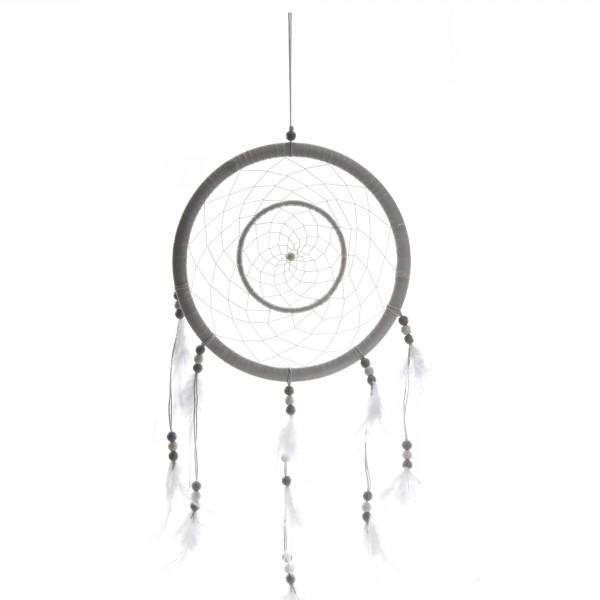 XXL Traumfänger mit Perlen und Federn - Handarbeit H 65 cm