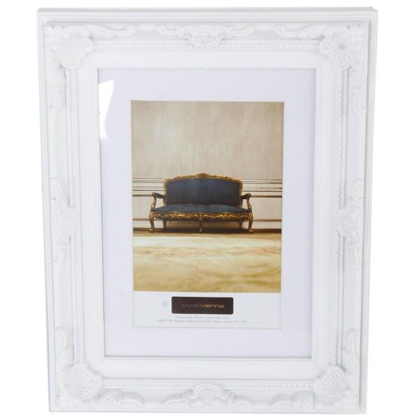 """Fotorahmen """"Barock"""" 24 x 18,5 cm, weiss"""