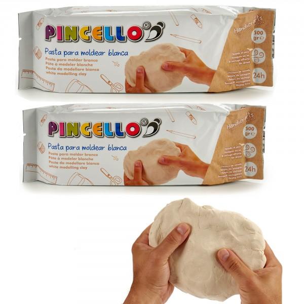 Modelliermasse Pincello Clay 1000 g weiß