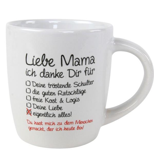 "Tasse ""Liebe Mama ich danke Dir...."""