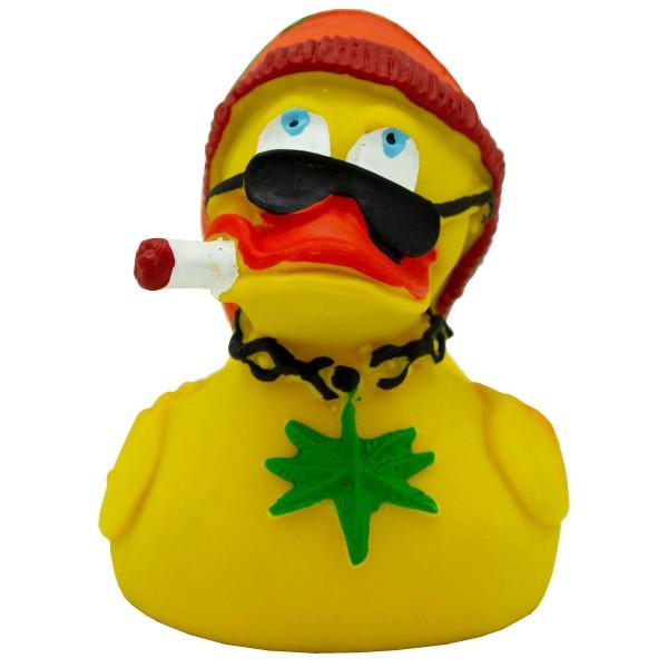 """Badeente """"Rasta Duck"""" aus Kautschuk H 7,5 cm"""