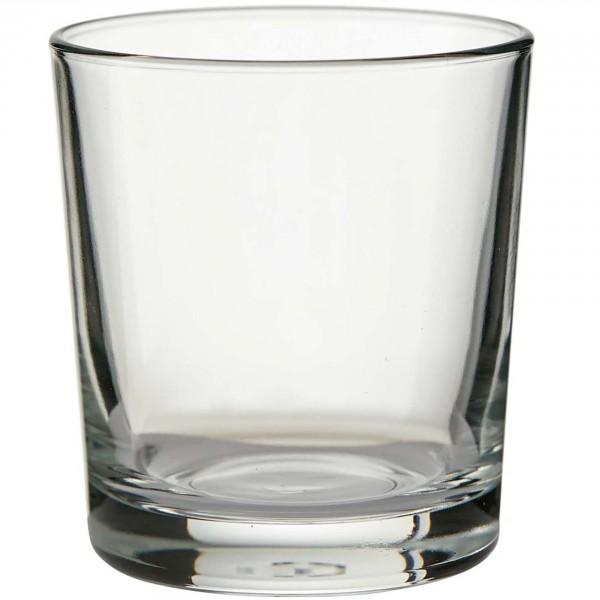 """6 x Zylinder Glas """"Fiete"""" Windlicht Dekoglas H 8 cm Ø 7,2 cm"""