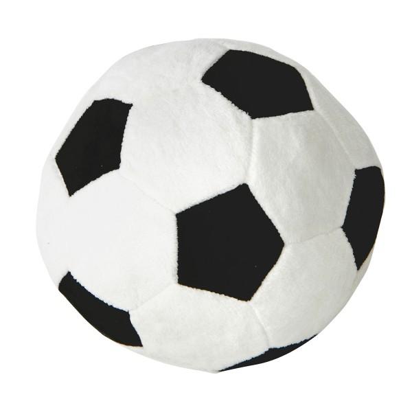 Ball im Fußball Design 8 cm aus Plüsch, supersoft