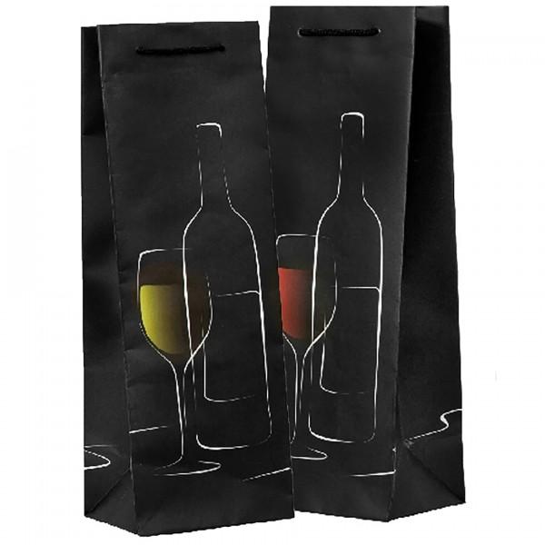 12 x Flaschentüten für Wein und edle Tropfen H 35 cm