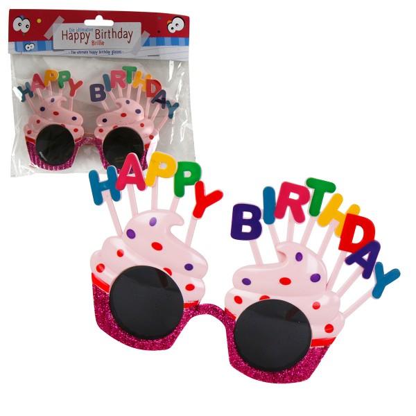 Brille HAPPY BIRTHDAY - Gagbrille zur Party