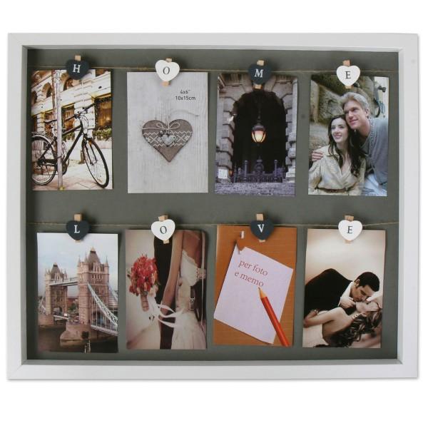 "XXL Fotorahmen ""Home-Love"" mit Holzklammern L 51 cm"