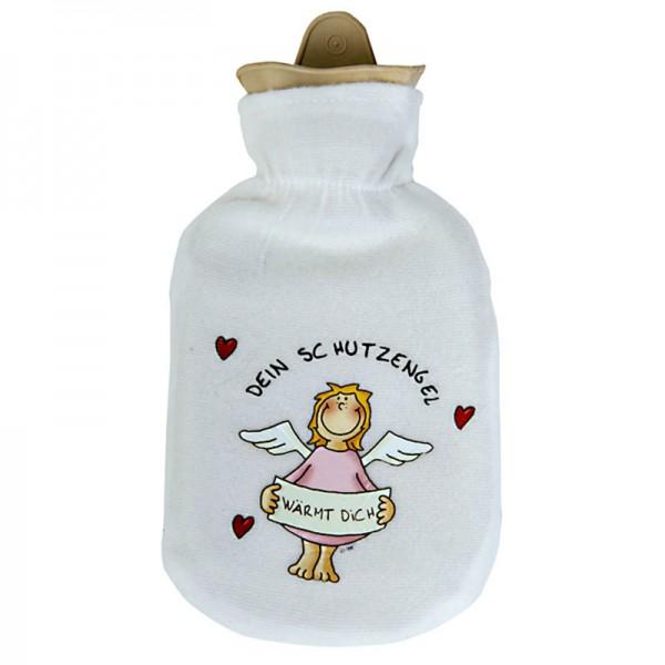 Wärmflasche mit Schutzengel 500ml, rosa