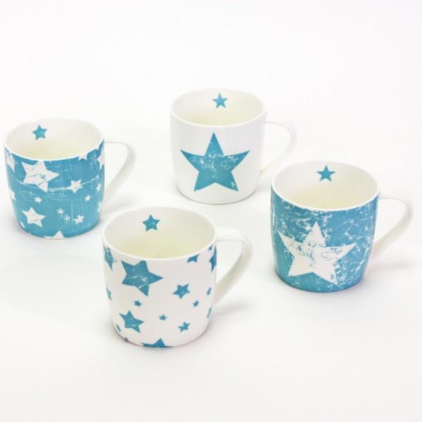 "Tassen ""Vintage Stars"" 4-tlg. Set, Porzellan"