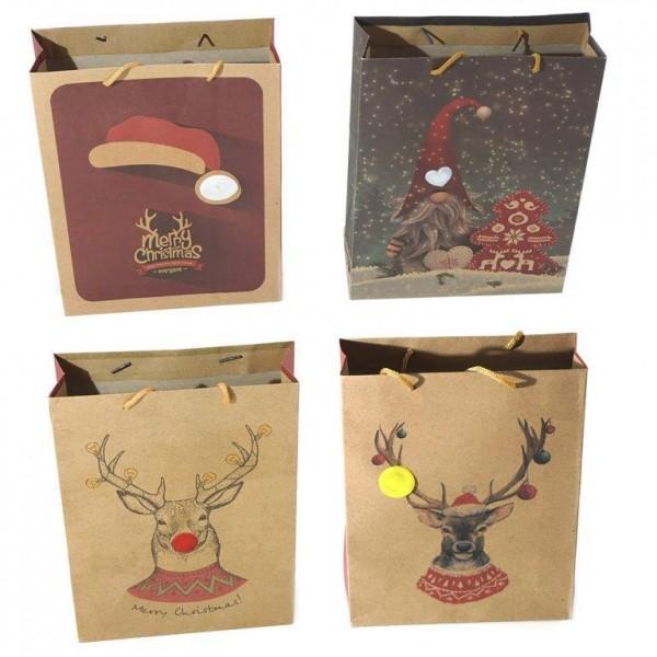 8 x Geschenktüten Weihnachten mit LED Licht 26 x 32 (B/H)
