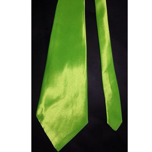 Krawatte aus glänzendem Satin, neon-grün