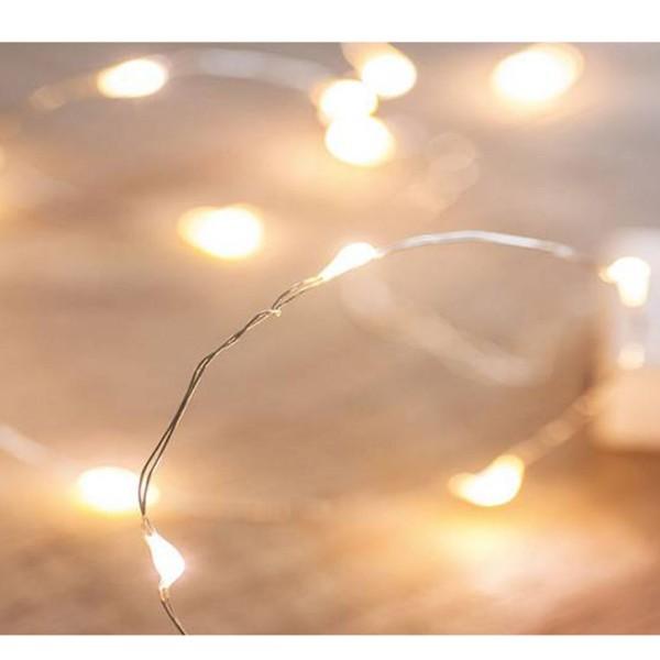 """Lichterkette 20 LEDs """"Mikrolights"""" L 135 cm, batteriebetrieben"""
