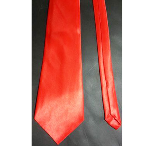 Krawatte aus glänzendem Satin, rot