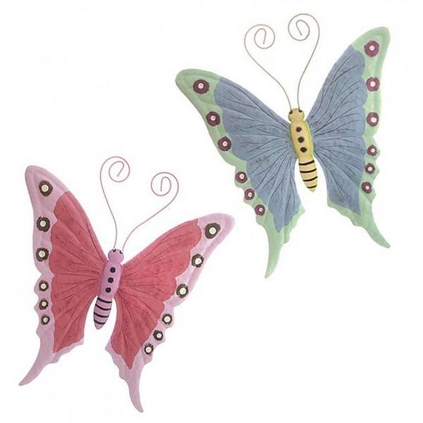 """Wanddeko """"Schmetterling"""" aus Metall zum Hängen H 26 cm"""